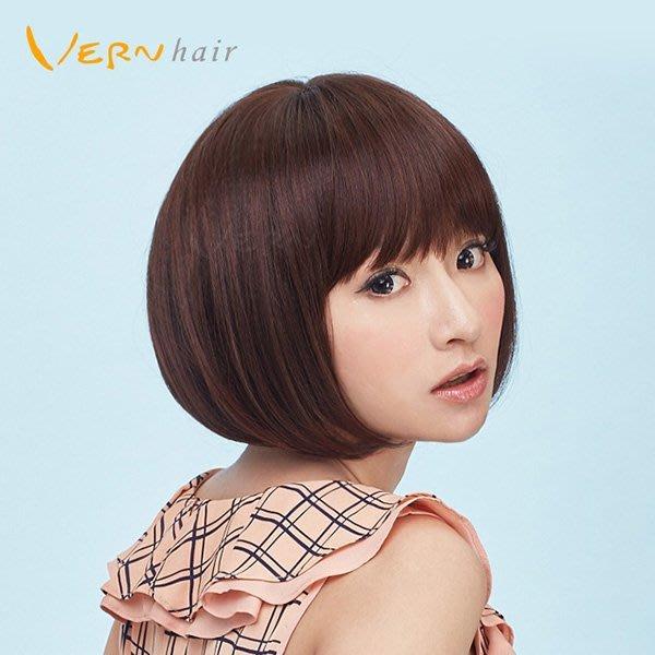 韋恩假髮-整頂-短髮-簡約風短髮鮑伯-經典推薦-自然日本高仿真不打結髮絲Vernhair【VH10932】