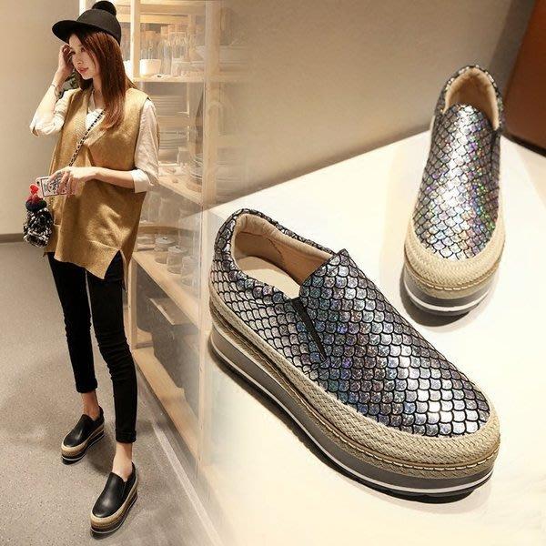 =WHITY=韓國GRAMMI品牌 韓國製  美腿顯瘦明星新款厚底鞋真皮鍾愛自留 王菲有穿 S6LO465