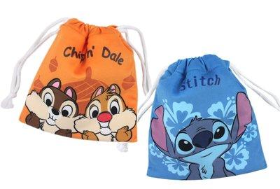 【卡漫迷】 絨毛 束口袋 二選一 ㊣版 收納袋 相機袋 史迪奇 Stitch 星際寶貝 奇奇蒂蒂 Chip n Dale