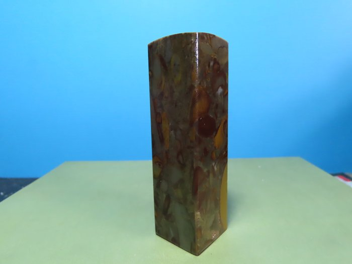 【競標網】天然漂亮女媧石正方形20mm(T1)(超低價起標、價高得標、限量一件、標到賺到)