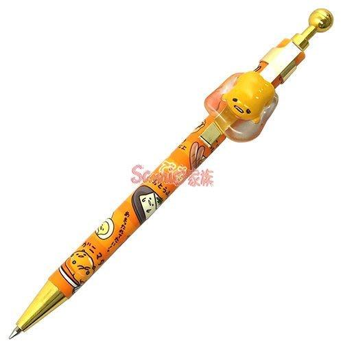 《東京家族》蛋黃哥立體造型筆夾原子筆(橘條紋)