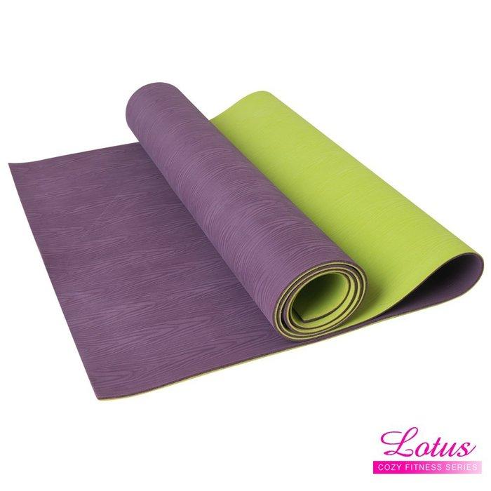 【LOTUS】台灣製木紋天然橡膠耐磨防滑瑜珈墊 福利品