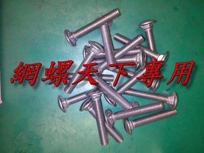網螺天下※304不鏽鋼馬車螺絲2分半牙...