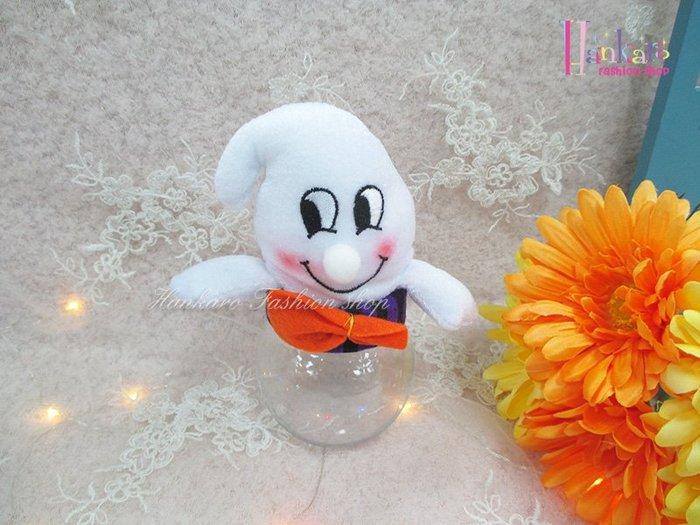 ☆[Hankaro]☆ 歐美創意萬聖節布置道具可愛幽靈造型透明糖果罐