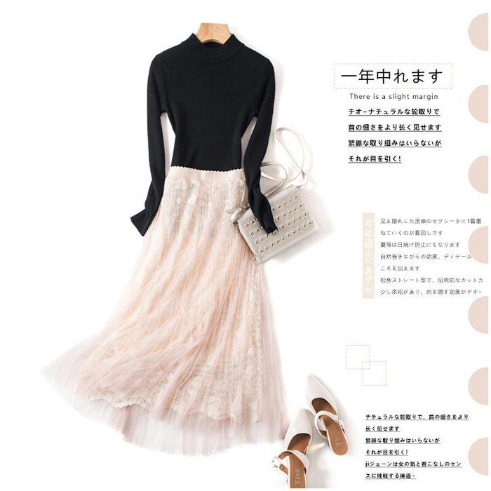 A162 專櫃柔軟網紗拼接鬆緊腰修身顯瘦百褶裙蛋糕裙