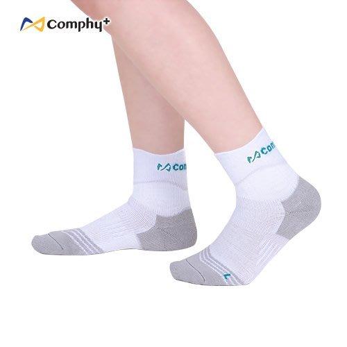 【線上體育】COMPHY+ 阿瘦集團 U型運動短襪-精煉白 M