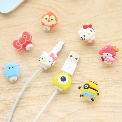 【創意蒐藏家】卡通造型蘋果iphone數據線保護套 耳機充電線防斷裂保護器