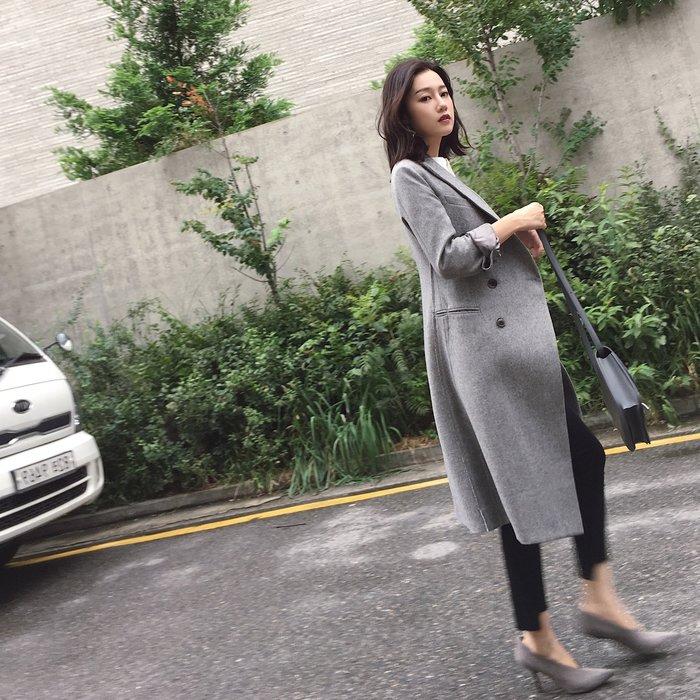 【2A Two】韓國👍好品質雙排扣 羊毛大衣 外套 修身 顯瘦『381017004』