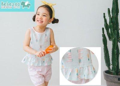 ❤現貨C206❤bebezoo/ARPUPAPA韓國品牌套裝可愛無袖短袖+短褲 兩件套 休閒服 家居服(可愛兔子款)