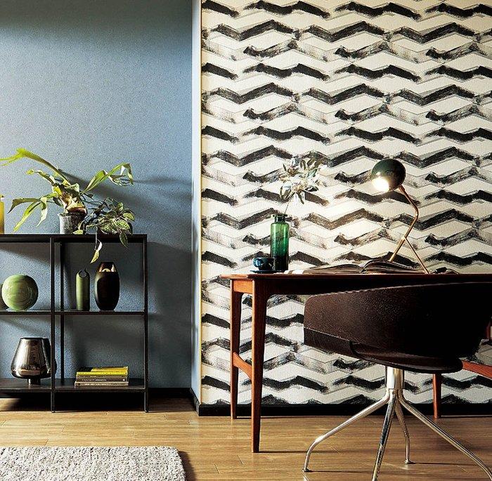【Uluru】日本進口壁紙 黑白簡約 幾何壁紙 壁紙  日本製