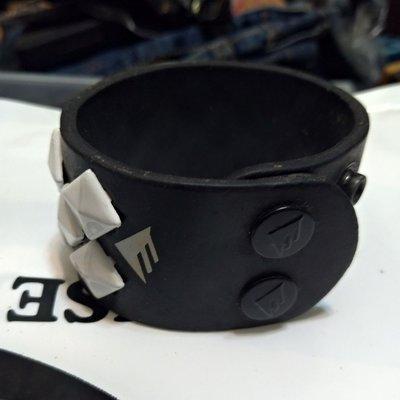 Element 皮革鉚釘 寬版手環 全新 punk street brand element leather rivet wide band brand new