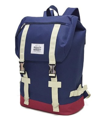 【Mr.Japan】日本限定 PRODUCTY WARRANTY 後背包 雙排扣 側邊拉鍊 包包 包 藍x紅 預購款