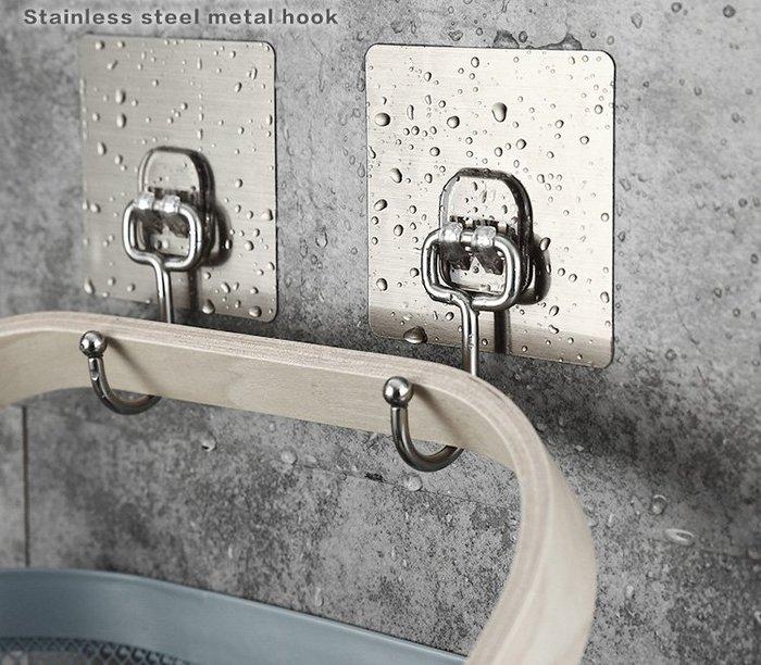 海馬寶寶 不鏽鋼掛勾 黏貼式掛勾 免釘無痕掛勾 單入