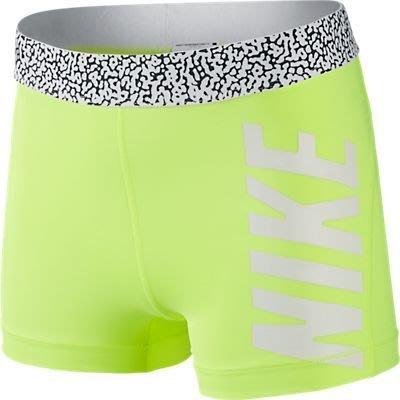 "NIKE PRO BASH 3"" SHORT緊身短褲640956-702螢光綠白字*尺寸詢問*"