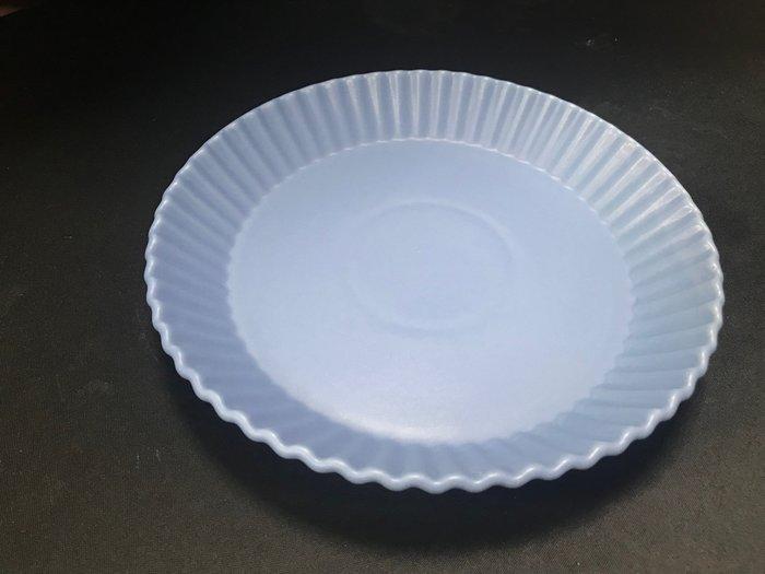 【無敵餐具】陶瓷耐熱亞光霧面波浪烤盤(19.5x3cm)耐熱250度~派盤/甜點盤/法式料理【A0334】