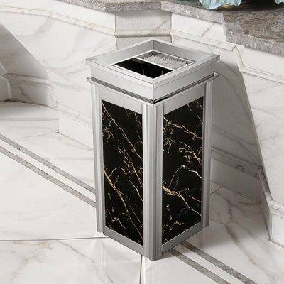 不銹鋼戶外垃圾桶 酒店大堂立式高檔家用電梯口仿大理石煙灰桶大號 BT24443【限時免運】