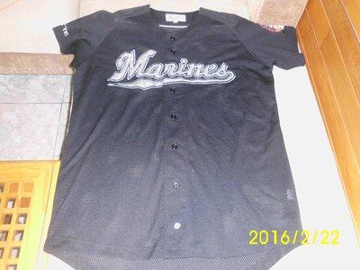 日本職棒千葉羅德海洋隊(Chiba Lotte Marines)2000年至2004年客場球衣刺繡版,陳偉殷新球隊