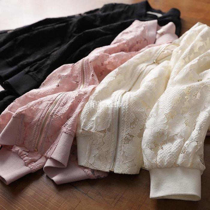 有家服飾很仙、很少女!春天這么穿也太美了吧!法GUO股線蕾絲 棒球領外套