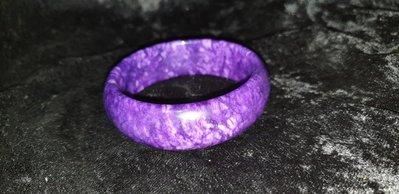 幸運星天然水晶 天然舒俱徠皇家紫手鐲19.5mm 蘇紀石水晶項墜 幽靈紫粉白鈦晶柱球手珠排項舒俱來花瓶鑽石戒指彼得65g