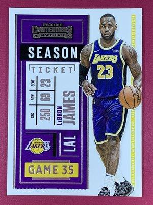 2020-21 Panini Contenders Ticket No.81 LeBron James Lakers