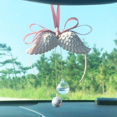 爆款香水天使翅膀車掛汽車掛件ins擴香石吊墜車內吊飾裝飾掛飾女車載香水
