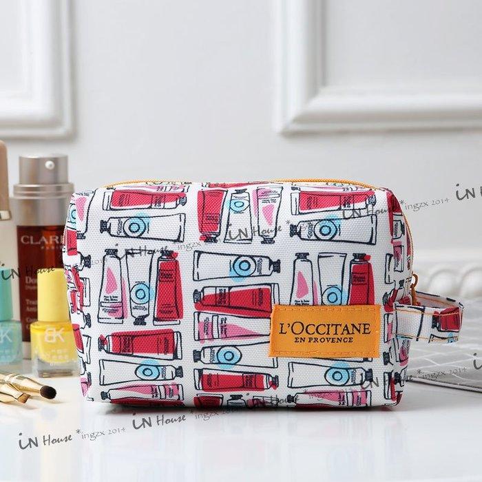 IN House* 專櫃 附品 L'Occitane 歐舒丹 隨身 化妝包 手拿包 零錢包 護手霜 收納袋 手提包 現貨