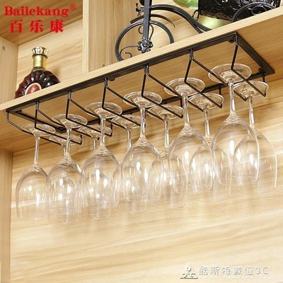 紅酒杯架倒掛家用高腳杯架吊杯架懸掛鐵藝吧台櫥櫃酒櫃創意擺件 YXS