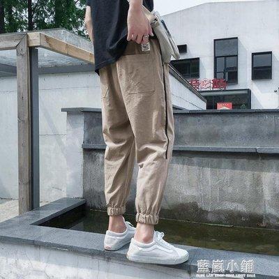 夏天九分休閒褲男哈倫韓版潮流寬鬆大碼小腳八分運動束腳褲夏長褲
