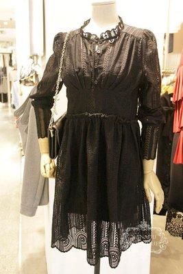 ♥出清 可純超取♥ 氣質修身透膚蕾絲洋裝(黑色現貨一) 正韓