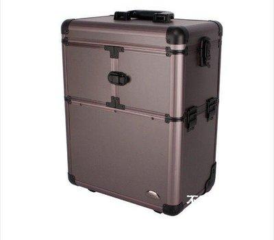 【格倫雅】^Sunrise 多層大容量專業化妝箱拉桿化妝箱跟妝箱JL3622SD 專1