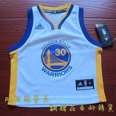 美國NBA官網Adidas正品勇士隊 庫里Curry 正品youth青年版BK燙印短袖球衣