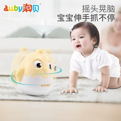 積木城堡 迷你廚房 早教益智澳貝Q萌小雞不倒翁兒童益智0-10個月寶寶早教嬰兒音樂安撫玩具
