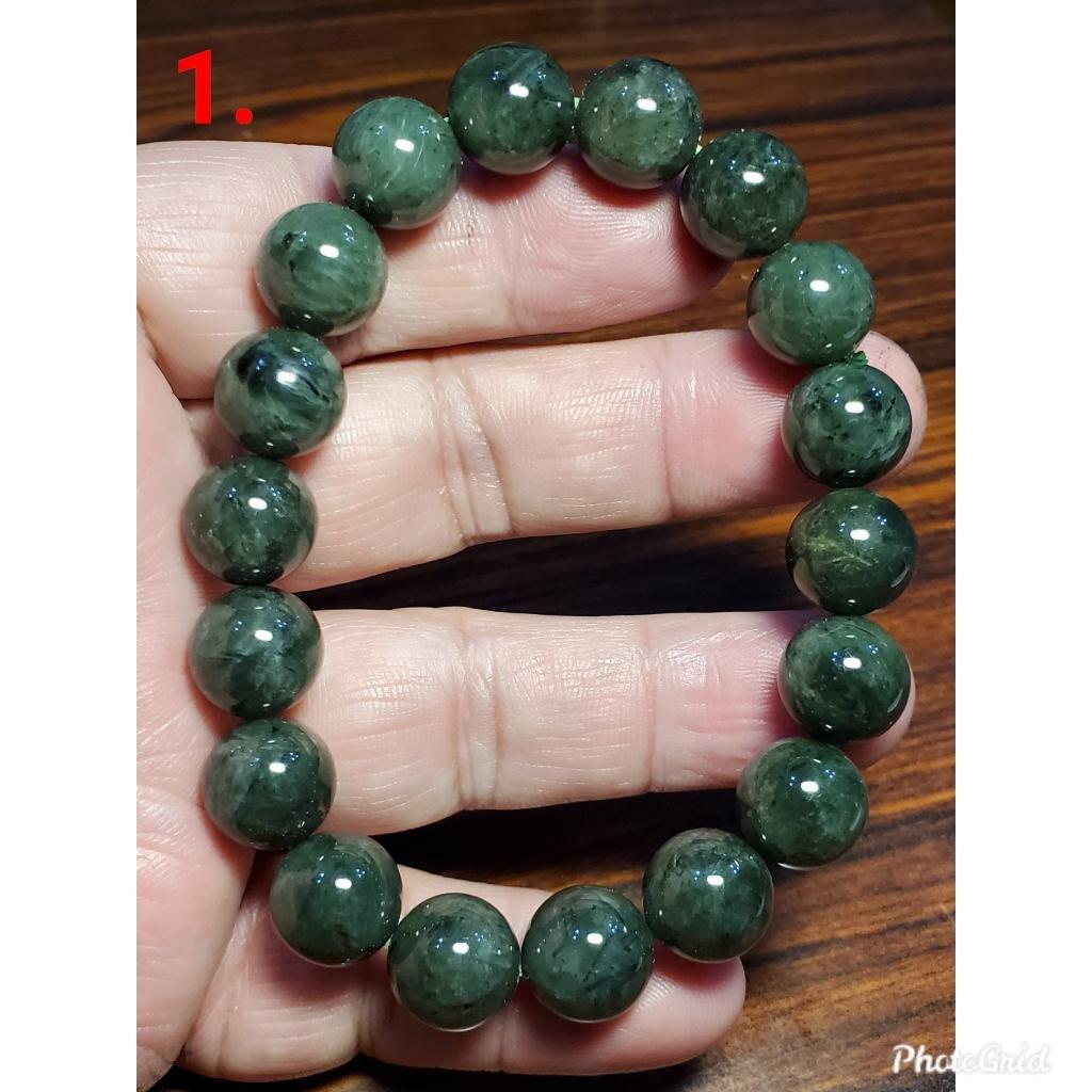 綠髮晶 發晶 手鍊 手環 手珠 11mm+ 天然 ❤水晶玉石特賣#C084-1