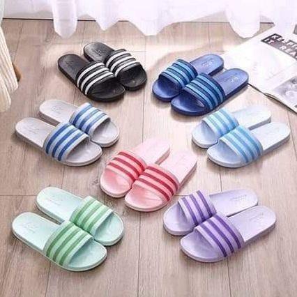 夏季條紋防滑涼拖鞋