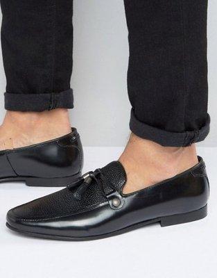 ◎美國代買◎ASOS流蘇飾品石面皮紋拼接雙材質英倫紳士雅痞風流蘇平底皮鞋休閒鞋~歐美街風~大尺碼-