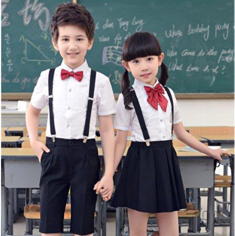 校園風 短袖襯衫 四件組 學生合唱團 45KG內適穿 ☆愛米粒☆ K08 男生/女生 100-170碼