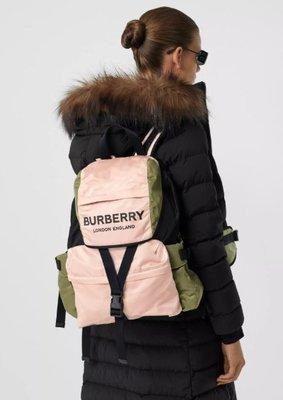 英國代購 BURBERRY 粉色 後背包 80105021