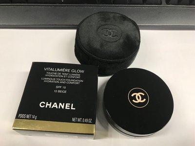 新品送Chanel logo cushion pouch chanel VITALUMIÈRE GLOW cushion 活力水亮氣墊粉底 SPF 15