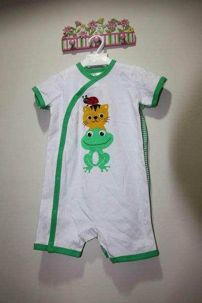 H&M 青蛙貓咪瓢蟲綠色系兩件組連身裝