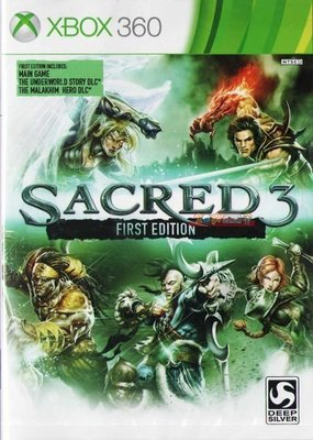 全新未拆 XBOX 360 聖域3 Sacred 3 First Edition(含地底世界以及刺客DLC)-英文亞版-