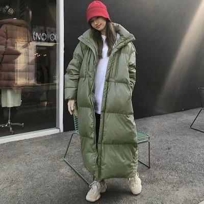 冬季 韓國加厚保暖連帽羽絨棉外套~ 長版外套