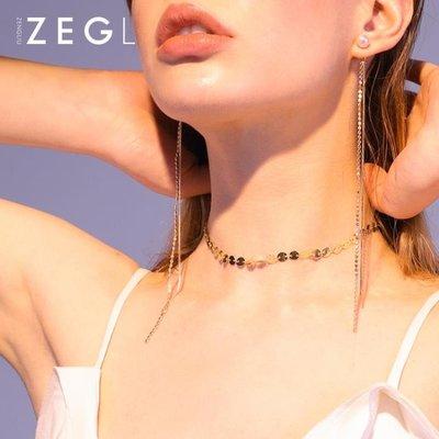 ZENGLIU脖子飾品項練鎖骨練短款簡...