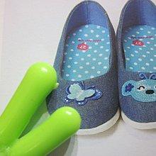 全新童鞋出清--☆WHY AND 1/2 --☆ 藍色蝴蝶休閒鞋--31號--賣場有蝴蝶吊帶裙可搭配