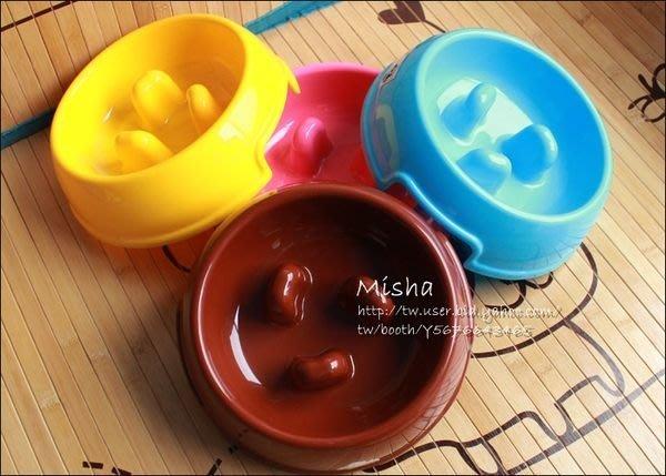 ✿ Misha ✿  彩色寵物慢食碗 防止狗狗狼吞虎嚥 減肥幫助消化防噎 四色 S/M  現 M號【滿千免運】