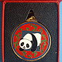~郵雅~中華人民國共和國國家旅遊局贈2008年北京歡迎您熊貓鑰匙圈