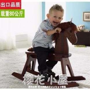 澤寶兒奧塞斯全實木搖馬寶寶木馬兒童益智玩具環保加厚大號周歲禮