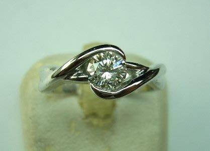 [吉宏精品交流中心]52分 南非天然鑽石 造型戒指