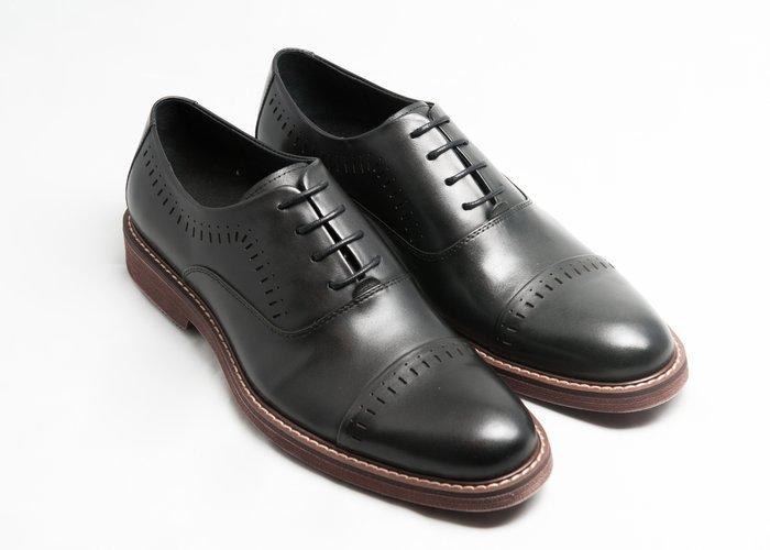 開普托雕花牛津鞋:手工上色小牛皮真皮氣墊皮鞋男鞋-黑色-免運費-[LMdH直營線上商店]E1A23-99