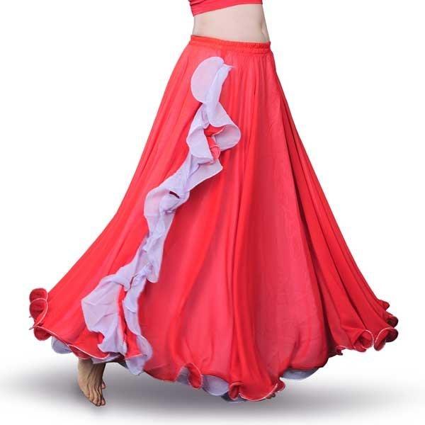 5Cgo【鴿樓】會員有優惠 545965066242 拉丁舞裙流新款 肚皮舞裙子 肚皮舞長裙 大擺裙 肚皮舞服裝舞蹈練習