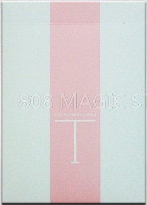 [808 MAGIC]魔術道具  Fresh T Playing Card 粉紅 限量純色牌
